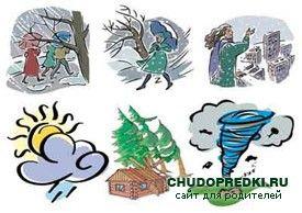 Англійські вірші про явищах природи. Poems about weather
