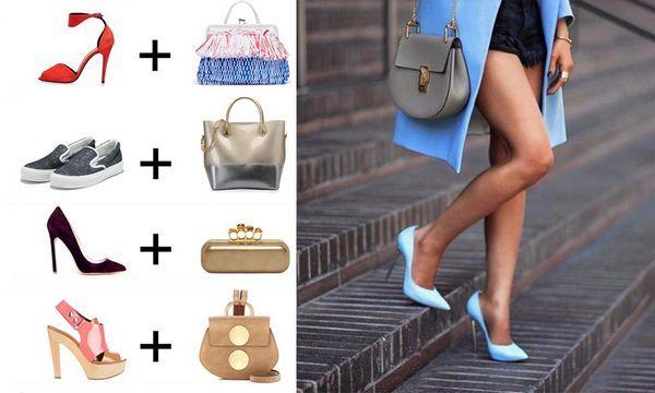 поєднання сумки і взуття 2017