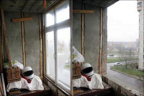 Перетворення звичайного хламохраніліща в стильний балкон мрії