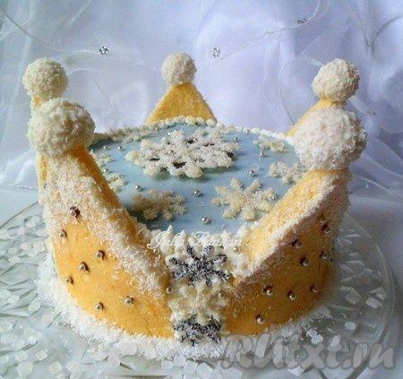 Торт «сніжна королева». Не тільки найсмачніший але і один з найкрасивіших тортів